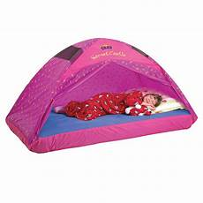 pacific play tents secret castle bed tent size