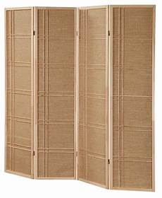 3 4 panel rattan in lay wooden screen room dividers