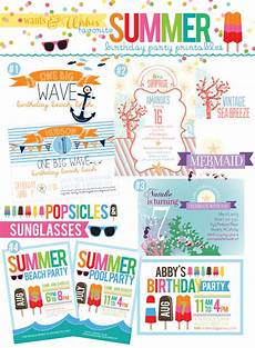 Summer Party Invites Wants And Wishes Summer Lovin Party Collections