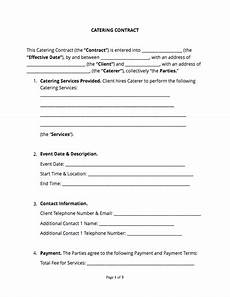 Catering Contracts Samples Catering Contract Free Sample Docsketch