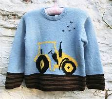 stricken kinderpullover childrens knitting pattern pdf tractor sweater knitting