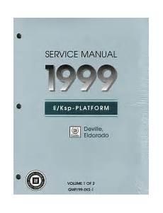 1999 Cadillac Deville Amp Eldorado Factory Service Manual