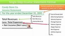 Multi Step Income Statement Format Preparing Single And Multi Step Income Statements Slides