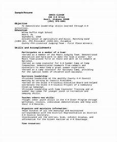 Resume H 9 Camp Counselor Resume Templates Pdf Doc Free