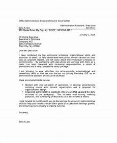 Resume Cover Letter Sample For Administrative Assistant Job Free 7 Sample Office Assistant Resume Templates In Ms