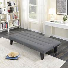 futon sofa bed furniture gray sleeper lounger convertible