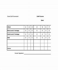 Golf Scorecard Template 10 Golf Scorecard Templates Free Sample Example Format