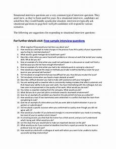 How To Answer Situational Interview Questions Good Situational Interview Questions