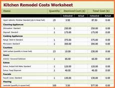 Remodeling Estimate Template 6 Kitchen Remodel Estimator Marital Settlements Information