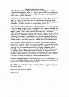 How To Write A Letter To A Soldier Featured Letter To An Unknown Soldier
