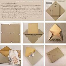 how to make a card envelope template paper glue envelope tutorial for embellished cards