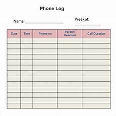 Phone Call Log Book Free 5 Sample Printable Phone Log Templates In Pdf Ms Word