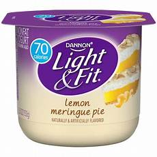 Dannon Light And Fit Greek Lemon Meringue Dannon Light Amp Fit Nonfat Yogurt Lemon Meringue 5 3 Oz