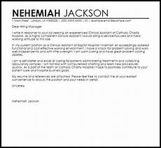 Clinical Assistant Cover Letter Clinical Assistant Cover Letter Sample Cover Letter