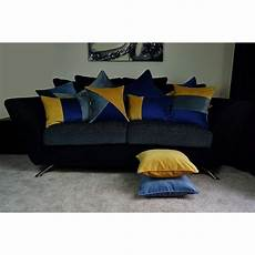 mcalister textiles velvet navy yellow grey cushion set