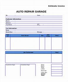Truck Repair Invoice Template Free 9 Auto Repair Invoice Templates In Ms Word Pdf Excel
