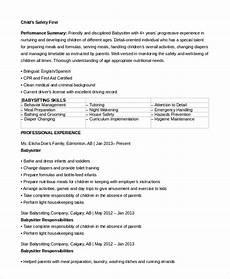 Babysitter Responsibilities Resume Babysitting Jobs Resume Examples Best Resume Examples