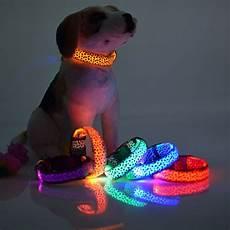 Light Pet 4pcs Led Dog Light Collar Pet Glow Dog Cat Glowing Collar