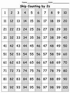 Counting By 2 S Chart 100s Chart Skip Count By 2s Full Page Portrait King