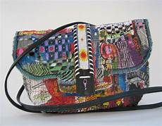 fabric crafts recycled boho upcycled bag is made with fused recycled plastic