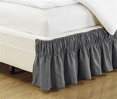 ruffled bed skirt charcoal