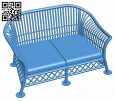 Welpatio Rattan Sofa 3d Image by Wicker Sofa Chair B005506 File Stl Free 3d