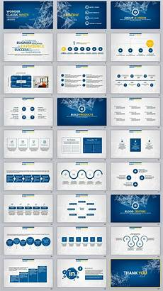 Business Presentation Powerpoint Templates 27 Blue Business Report Professional Powerpoint Templates