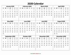 Vertex42 Calendar 2020 Calendar With Holidays By Vertex42 Com