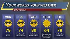 5 Day Weather Chart 5 Day Weather Forecast Youtube