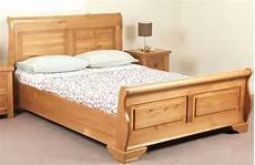 sweet dreams jackdaw oak sleigh bed frame 135cm