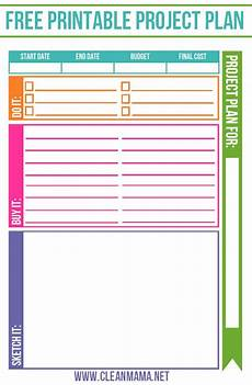 Free Project Management Forms Free Project Planner Project Planner How To Plan