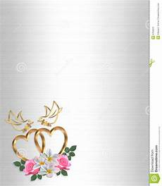 Heart Images For Wedding Invitations Wedding Invitation Gold Heart And Doves Stock Illustration