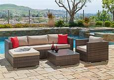 suncrown 6 wicker outdoor sectional sofa set with