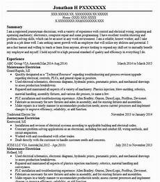 Resume Of Electrical Technician Maintenance Electrician Resume Sample Livecareer