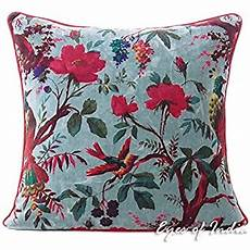 of india 20 quot gray velvet floral flower
