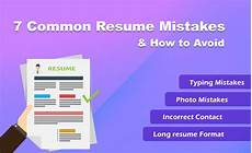 Common Resumes What Are The Most Common Resume Mistakes And How To Avoid