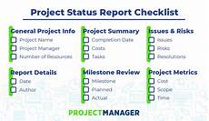 Best Way To Make A Checklist Project Status Report What Should It Include