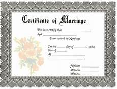 Printable Marriage Certificate Blank Marriage Certificates Download Blank Marriage