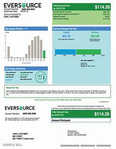 Connecticut Gas Company Understanding My Gas Bill Example Ct Bill Eversource