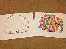 Elmer The Elephant Outline By Chantelle Walker Tpt