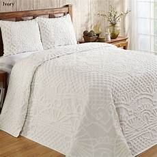 trevor white or ivory lightweight cotton chenille