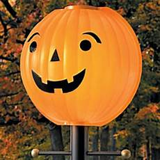 Halloween Light Covers Halloween Thanksgiving Pumpkin Jack O Lantern Lamppost