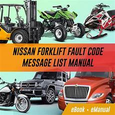 Forklifts Nissan Service Repair Workshop Manuals