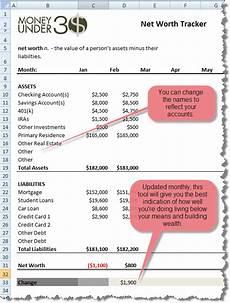 Best Net Worth Tracker Free Net Worth Spreadsheet Money Under 30