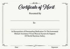 Merit Certificate Sample 4 Printable Certificate Of Merit Templates Certificate