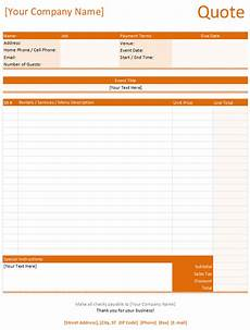 Free Quote Forms Quotation Templates Download Free Quotes For Word Excel