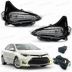 Corolla 2017 Fog Lights Led Fog Lights Driving Lamps Cover Switch Kit For Toyota