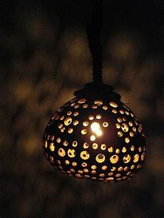 Coconut Shell Lights Single Coconut Shell Hanging Lamp Garden Home Decorative