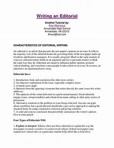 Example Of Editorial Essays Writing An Editorial