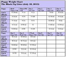 Puppy Feeding Chart By Weight Age Jls Dalmatians One Week Old Today